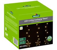 Dehner LED-Lichtervorhang Stern, 60 LEDs, 75 x 75 cm