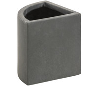 Dehner Leichtbeton-Ecktopf, grau