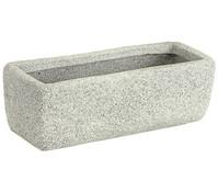 Dehner Leichtbeton-Kasten Clayfibre Rocky, rechteckig, grau