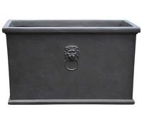 Dehner Leichtbeton-Kasten Windsor, rechteckig, schwarz