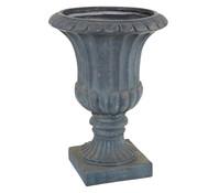 Dehner Leichtbeton-Pokal, rund, antik-schwarz, Ø 47 cm
