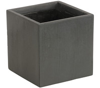 Dehner Leichtbeton-Topf Clayfibre, quadratisch, graphit