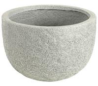 Dehner Leichtbeton-Topf Clayfibre Rocky, rund, grau