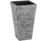 Dehner Leichtbeton-Topf, grau, 28 x 28 x 50 cm