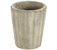 Dehner Leichtbeton-Topf mit Rillenstruktur, rund, sand