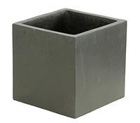 Dehner Leichtbeton-Topf, quadratisch, graphit