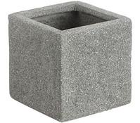 Dehner Leichtbeton-Topf, quadratisch, rock