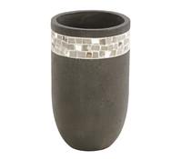 Dehner Leichtbeton-Vase, rund, grau