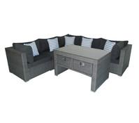 Dehner Loungegruppe Catania, grau, 7-teilig