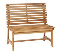 Dehner Markenqualität Akazienbank Paisley, 2-Sitzer, 105 x 63 x 95 cm