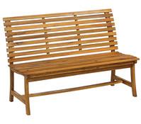 Dehner Markenqualität Akazienbank Paisley, 3-Sitzer, 138 x 63 x 95 cm