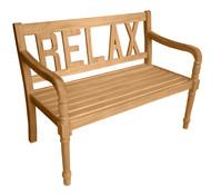 Dehner Markenqualität Akazienholzbank Relax, 2-Sitzer