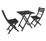 Dehner Markenqualität Balkon-Set Provence, schwarz
