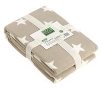 Dehner Markenqualität Fleecedecke Latte Stars