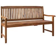 Dehner Markenqualität Holzbank Oslo, mit integriertem Tischchen, 3-Sitzer