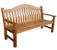 Dehner Markenqualität Holzbank Samui, 3-Sitzer