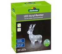 Dehner Markenqualität LED-Acryl-Rentier, 23 x 31 x 9 cm