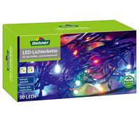 Dehner Markenqualität LED Kette bunt, 50 Lichter, ca. 8m lang