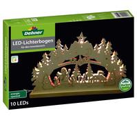 Dehner Markenqualität LED-Lichterbogen, Holz, 10 Lichter