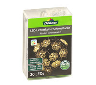 Dehner Markenqualität LED Lichterkette Schneeflocke