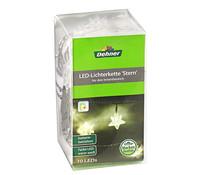 Dehner Markenqualität LED-Lichterkette Stern, 10er, batteriebetrieben