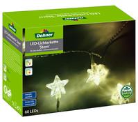Dehner Markenqualität LED-Lichterkette Stern, 60 Lichter, ca. 5m lang