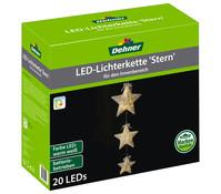 Dehner Markenqualität LED-Lichterkette Stern, batteriebetrieben
