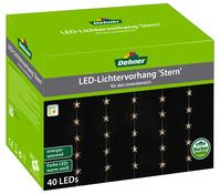Dehner Markenqualität LED-Lichtervorhang Stern, 40er