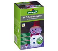 Dehner Markenqualität LED-Schneemann rot, mit Farbwechsel