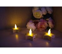 Dehner Markenqualität LED Stern-Teelichter, 4 Stück