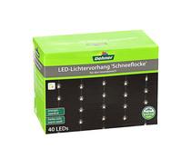 Dehner Markenqualität LED-Vorhang Schneeflocke, 40er