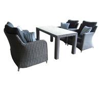 Dehner Markenqualität Lounge Toska, grau