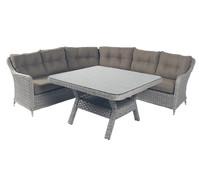 Dehner Markenqualität Loungegruppe Kreta, antikweiß