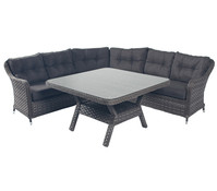 Dehner Markenqualität Loungegruppe Kreta, grau