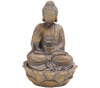 Dehner Markenqualität Polyresin-Zimmerbrunnen Buddha