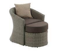Dehner Markenqualität Sessel Princeton, mit Hocker