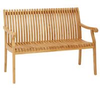 Dehner Markenqualität Teakbank Dakota, 2-Sitzer, 127 x 68 x 90 cm