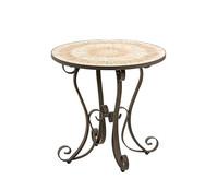 Dehner Markenqualität Tisch Meribel, Ø 76 cm, Mosaikoptik