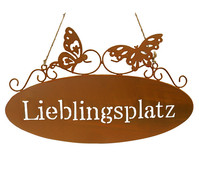 Dehner Metall-Gartenschild Lieblingsplatz