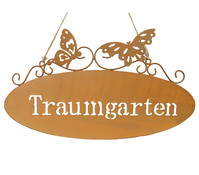 Dehner Metall-Gartenschild Traumgarten