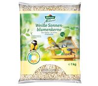 Dehner Natura weiße Sonnenblumenkerne, Wildvogelfutter, 1 kg