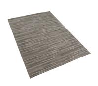 Dehner Outdoor-Teppich dunkelbraun mit Querstreifen