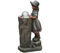 Dehner Polyresin-Gartenbrunnen Lisa, 40,5 x 25,4 x 80,8 cm