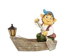 Dehner Polyresin-Gnom im Boot