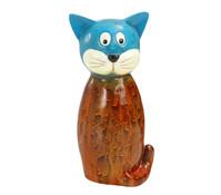 Dehner Polyresin-Zaunfigur Katze, 11,8 x 9 x 23,5 cm