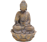 Dehner Polyresin-Zimmerbrunnen Buddha, 32,3 x 25,5 cm