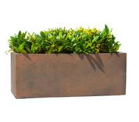 Dehner Polystone-Blumenkasten, rost