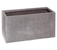 Dehner Polystone-Blumenkübel, rechteckig, granit-grau