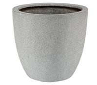 Dehner Polystone-Pflanztopf, rund, grau