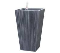 Dehner Polystone-Topf, Ø 30 x 52 cm, grau-schwarz
